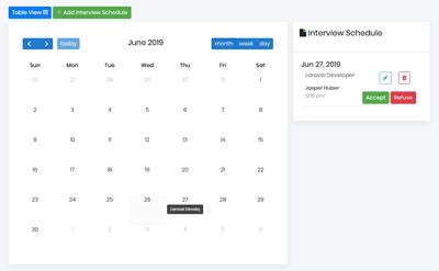 Schedule Interviews